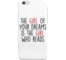 The reading girl iPhone Case/Skin