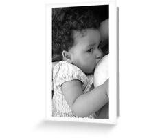 Baby Nursing Greeting Card