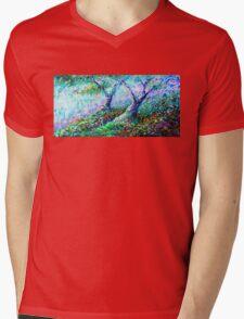 Healing Trees Mens V-Neck T-Shirt