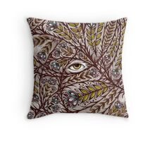 Golden Eye Throw Pillow