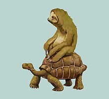 Sloth on Turtle by JakeTom