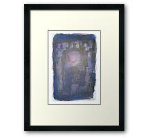 Deep Blue Untitled Framed Print