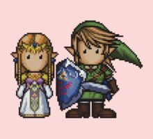 Link & Zelda Pixelart One Piece - Long Sleeve