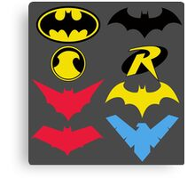 The Symbols of The Bat Family Canvas Print