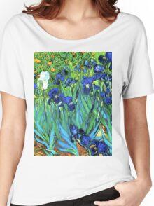 Van Gogh HDR Garden Irises Women's Relaxed Fit T-Shirt