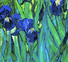 Van Gogh HDR Garden Irises Sticker