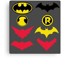 The Symbols of The Bat Family Variant Canvas Print