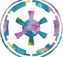 Watercolor Galactic Empire (white) by PeonyPaints