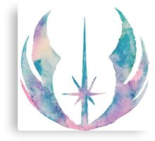 Watercolor Jedi Order (white) Canvas Print