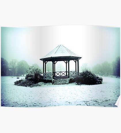 Winter Band Stand - Leighton Buzzard Poster