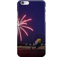 Historic WWII Plane with Fireworks iPhone Case/Skin