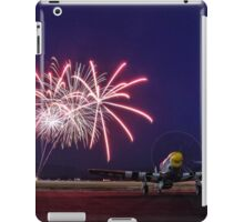 Historic WWII Plane with Fireworks iPad Case/Skin