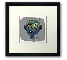 Zombies In Your Head Framed Print