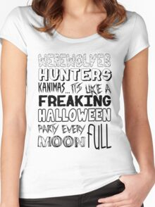 A Freaking Halloween Party Women's Fitted Scoop T-Shirt