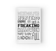 A Freaking Halloween Party Hardcover Journal
