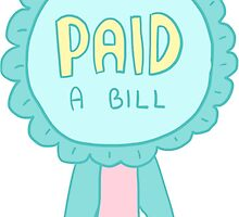 Spoonie Achievement:  Paid a Bill by spooniestickers