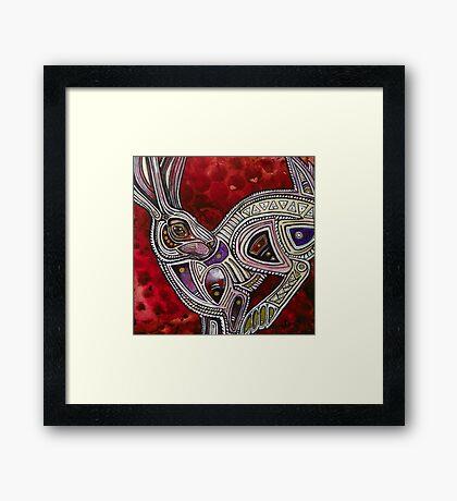 The Trickster Rabbit Framed Print