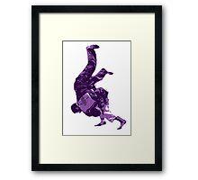 Judo Throw in Gi Purple  Framed Print