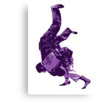 Judo Throw in Gi Purple  Canvas Print