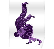 Judo Throw in Gi Purple  Poster