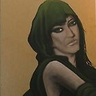 Girl in Green hood by alan  sloey