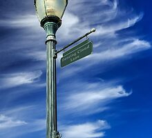 Lightpost On Dancing Cloud Lane by James Eddy