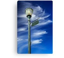 Lightpost On Dancing Cloud Lane Canvas Print
