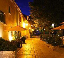 Gassin by Night on the French Riviera by Atanas Bozhikov Nasko