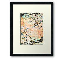 Sunset Tiles Framed Print
