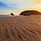 Sunset On The Sands Of Brookings by James Eddy
