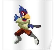 Pixel Falco Lombardi Star Fox Melee Poster