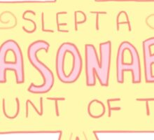 Spoonie Achievement:  Slept a Reasonable Amount of Time Sticker