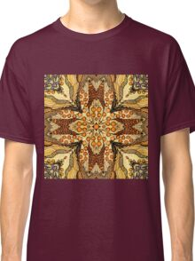 Abstract kaleidoscope patern with apple Classic T-Shirt
