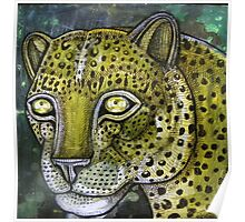 Hunting Leopard Poster