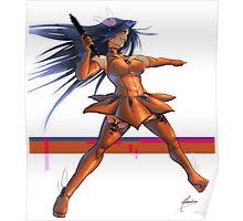 Blue Hair Heroine Poster
