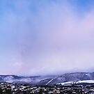 Mt Wellington from Glenorchy, the big snow 03 August 2015 by Odille Esmonde-Morgan