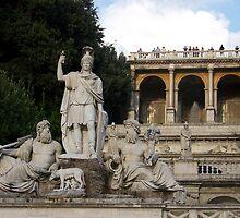Statue of Asclepius at Pincio Hill, Rome  by Sunil Bhardwaj