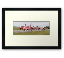 Red Arrows Panoramic Framed Print