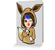 Eevee Gamer Chibi Greeting Card