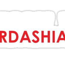 Boycott the Kardashians (Red) Sticker