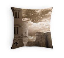 Castle Walls, Italy Throw Pillow