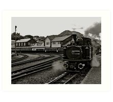 Welsh Steam Train Art Print