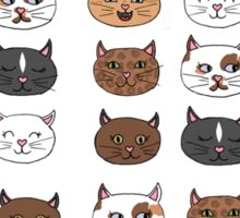 Hearty Cats Sticker