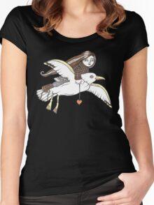 Frannies Flight Tee Women's Fitted Scoop T-Shirt