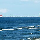 Light Station at Grand Haven, Michigan by BarbL