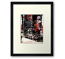 Peach-Ninja Project - No smoking Framed Print