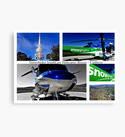 Snowyhydro SouthCare Helicopter Rescue ~ Canberra Canvas Print