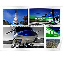 Snowyhydro SouthCare Helicopter Rescue ~ Canberra Poster