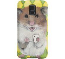 Say Cheese; Hamster with an i phone Samsung Galaxy Case/Skin