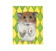 Say Cheese; Hamster with an i phone Art Print
